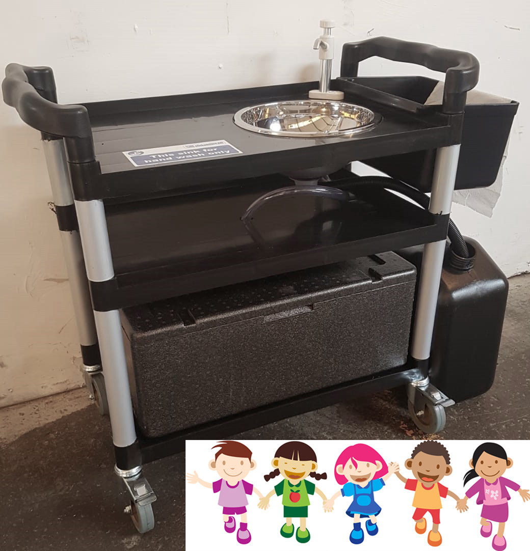Portable Childs Mobile Hand Wash Sink Unit Ideal Playgroup COVID
